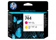 HP 744  -  yellow, magenta