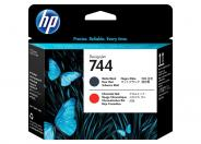 HP 744  -  black, chromatic red