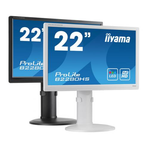"22"" White Full HD LED/TFT Monitor 1920 x 1080 Height Adjustable 1 x DVI and 1 x HDMI Connection"