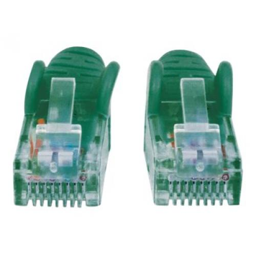 Intellinet Network Patch Cable, Cat6, 20m, Green, CCA, U/UTP, PVC, RJ45, Gold Plated Contacts, Snagless, Booted, Polybag