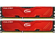 Team Group Vulcan Red 8gb (2x4gb) Ddr3 Pc3-12800c9 1600mhz Dual Channel Kit (tlred38g1600hc9dc01)