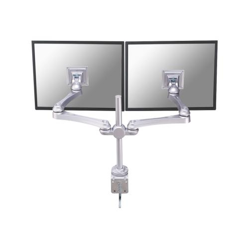 "NewStar Full Motion Dual Desk Mount (clamp) for two 10-30"" Monitor Screens, Height Adjustable"