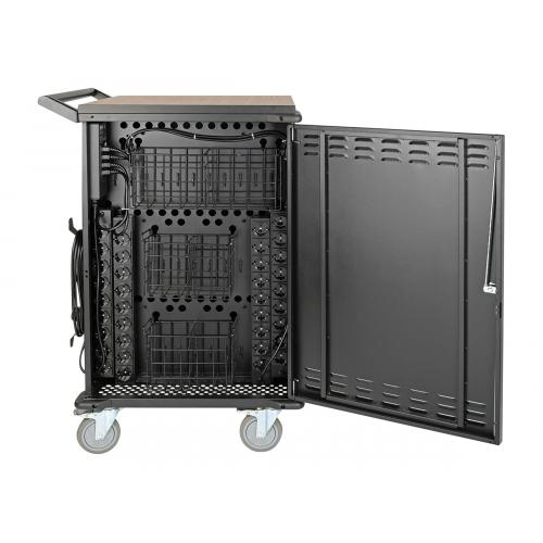 Tripp Lite 36-Device AC Charging Station Cart for Chromebooks and Laptops, Schuko, 230V
