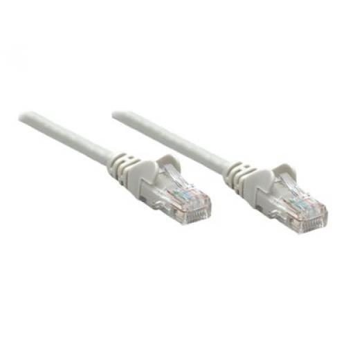 Intellinet Network Patch Cable, Cat6, 10m, Grey, CCA, U/UTP, PVC, RJ45, Gold Plated Contacts, Snagless, Booted, Polybag