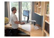 Ergotron WorkFit-A LCD HD with Worksurface+ Standing Desk