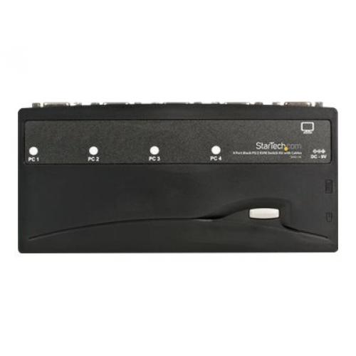 StarTech.com 4 Port Black PS/2 KVM Switch Kit with Cables