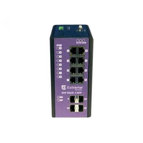 Extreme Networks ExtremeSwitching Industrial Ethernet Switches ISW 8GBP,4-SFP