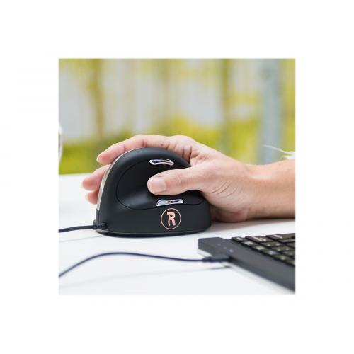 R-Go HE Mouse Break Ergonomic mouse, Anti-RSI software, Medium (165-195mm), Right handed, wired