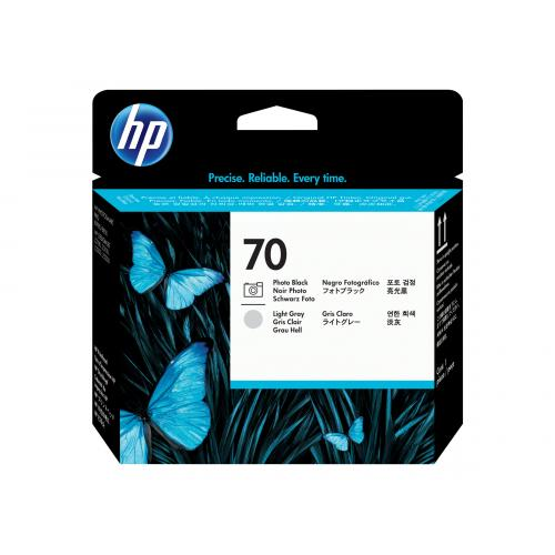HP 70   -   light grey, photo black