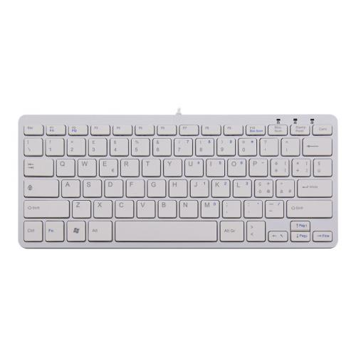 R-Go Compact Keyboard, QWERTY(IT), white, wired