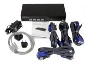 StarTech.com 4 Port USB VGA KVM Switch with DDM Fast Switching and Cables