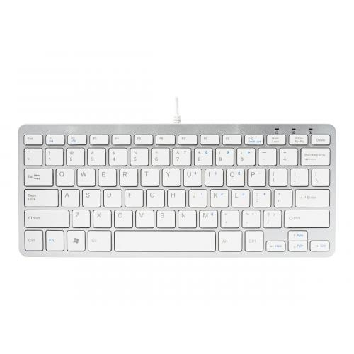 R-Go Compact Keyboard, QWERTZ(DE), white, wired