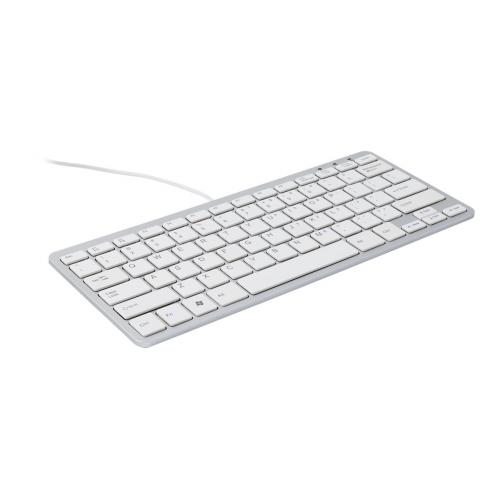 R-Go Compact Keyboard, AZERTY(BE), white, wired