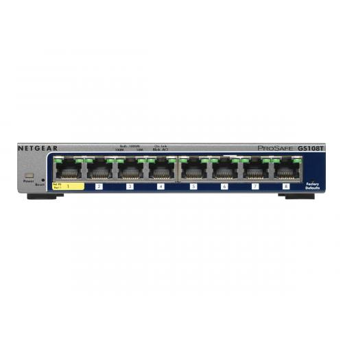 NETGEAR GS108T 8-Port Gigabit Smart Managed Switch