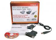 StarTech.com USB to RS232 DB9/DB25 Serial Adapter Cable