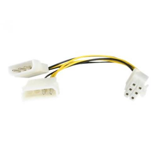 StarTech.com 6in LP4 to 6 Pin PCI Express Video Card Power Cable Adapter