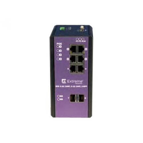 Extreme Networks ExtremeSwitching Industrial Ethernet Switches ISW 4-10/100P, 2-10/100T, 2-SFP